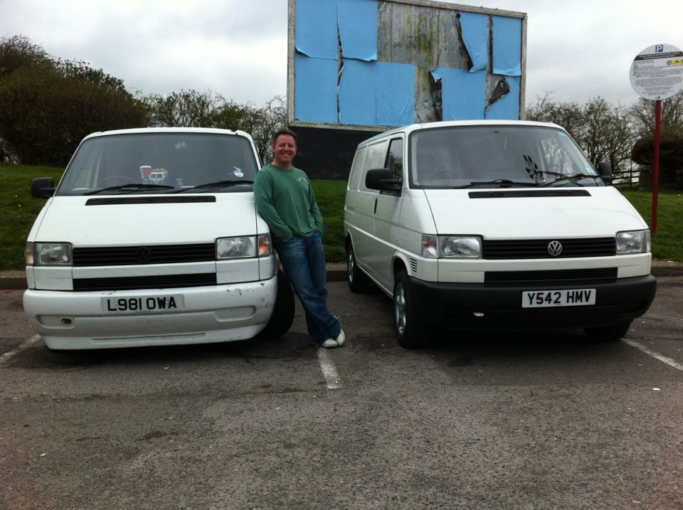 My friend David leant against his van next to mine, I only wanted a shot of my van but he has to be in every photo.