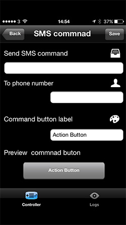 Setting up a GMS Commander control button